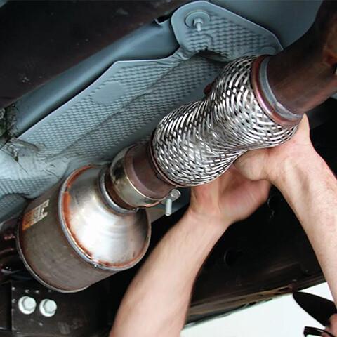 ремонт гофры глушителя
